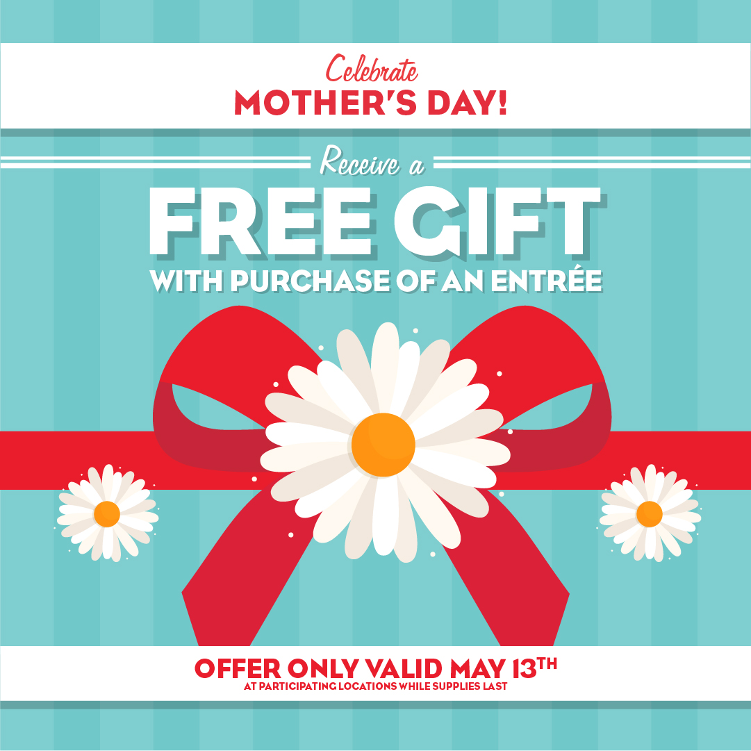 Receive a free gift on Mother's Day